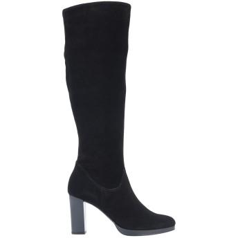 《セール開催中》PELLEDOCA レディース ブーツ ブラック 41 牛革(カーフ) / 伸縮繊維