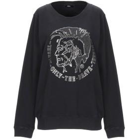 《期間限定 セール開催中》DIESEL レディース スウェットシャツ ブラック XS コットン 100% / ポリウレタン