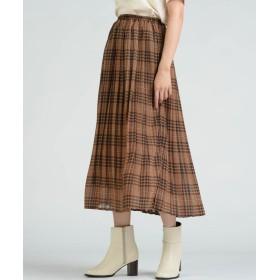 LIPSTAR リップスター シフォンチェック柄プリーツスカート