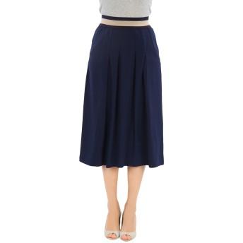 《セール開催中》ALPHA STUDIO レディース 7分丈スカート ダークブルー 40 ポリエステル 100%