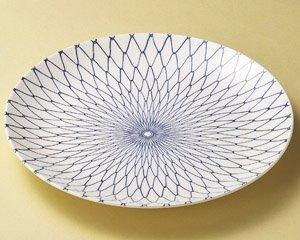 日本陶瓷 萬古燒 網目圓盤 37cm 中 宴客大方瓷餐盤 日本製