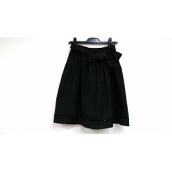 トゥービーシック TO BE CHIC スカート サイズ40 M レディース 美品 黒 リボン/スパンコール【中古】