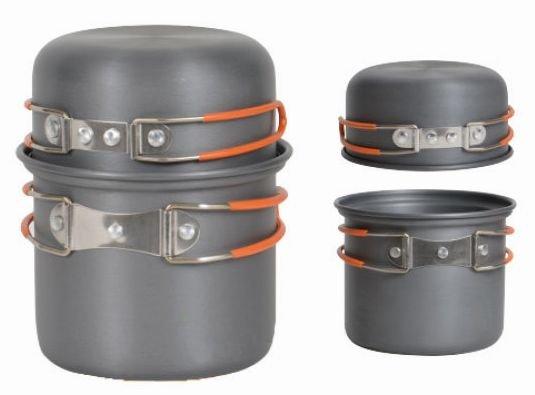 【露營趣】附D型扣 犀牛 RHINO K-1 單人輕便套鍋 個人鍋具 餐具 一鍋一蓋 碗 湯鍋 適登山.露營