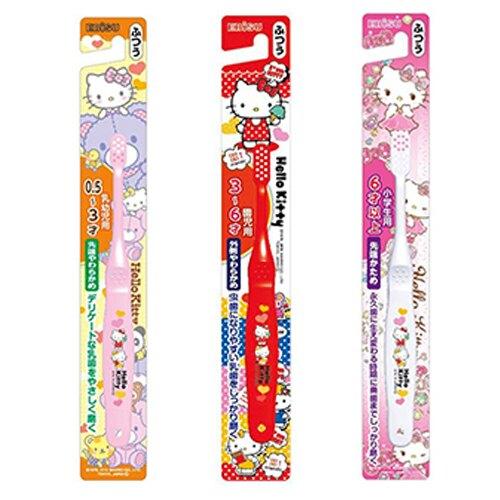 日本 EBiSU惠百施 Hello Kitty 兒童牙刷 0.5-3歲/3-6歲/6歲以上(單支)【德芳保健藥妝】(顏色隨機出貨)