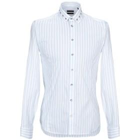《期間限定 セール開催中》PATRIZIA PEPE メンズ シャツ ホワイト 48 コットン 72% / ナイロン 24% / ポリウレタン 4%
