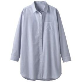 【レディース】 UVケアロングシャツ - セシール ■カラー:グレイッシュブルー ■サイズ:M,S,L,LL,3L