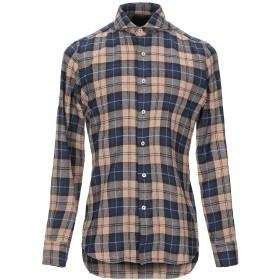 《期間限定セール開催中!》ALESSANDRO GHERARDI メンズ シャツ ブルー 38 コットン 48% / レーヨン 40% / ナイロン 12%