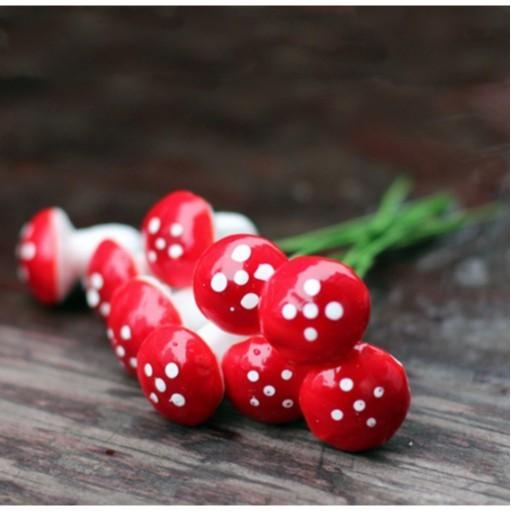 雨林花園蘑菇多肉微景觀花插(5入組)