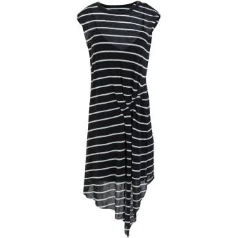 《セール開催中》ALLSAINTS レディース ひざ丈ワンピース ブラック XS レーヨン 70% / ウール 30% DUMA STRIPE DRESS