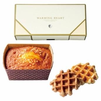 ウォーミングハート チーズケーキ&ワッフルセット ギフト プレゼント お祝い お返し お礼 結婚 引出物 スイーツ