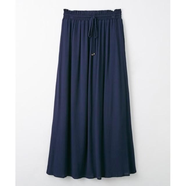 涼し気楊柳素材♪マキシスカート (ロング丈・マキシ丈スカート)Skirts, 裙子