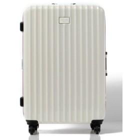 (BENETTON (UNITED COLORS OF BENETTON)/ベネトン(ユナイテッド カラーズ オブ ベネトン))【L】静走ラインキャリーケース・スーツケース容量約80L 静音/レディース ホワイト