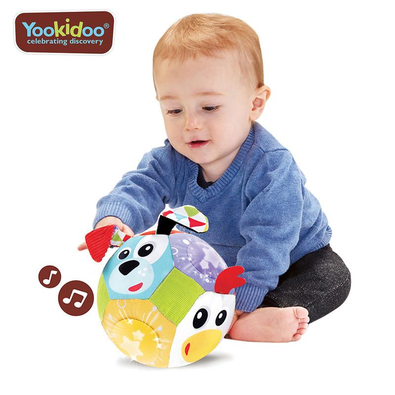 yookidoo 以色列 音樂系列 -動物好朋友聲光音樂布球