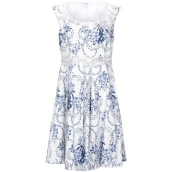 《セール開催中》BLUGIRL BLUMARINE レディース ミニワンピース&ドレス ホワイト 38 コットン 97% / ポリウレタン 3%