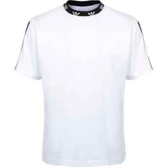《9/20まで! 限定セール開催中》ADIDAS ORIGINALS メンズ T シャツ ホワイト S コットン 100% TREFOIL RIB TEE