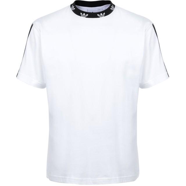 《期間限定セール開催中!》ADIDAS ORIGINALS メンズ T シャツ ホワイト S コットン 100% TREFOIL RIB TEE