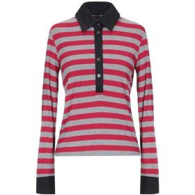 《セール開催中》CLIPS MORE レディース ポロシャツ レッド 44 レーヨン 95% / ポリウレタン 5%