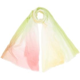 【85%OFF】カシミヤ混 グラデーション スカーフ ブライトピンクマルチ