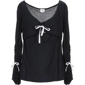 《期間限定セール開催中!》BLUGIRL BLUMARINE レディース T シャツ ブラック XL レーヨン 100%