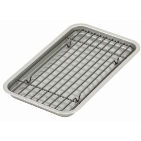 パール金属 ベイクウェア シルバー 幅24.5cm ふっ素加工オーブントースター用プレート・アミセ