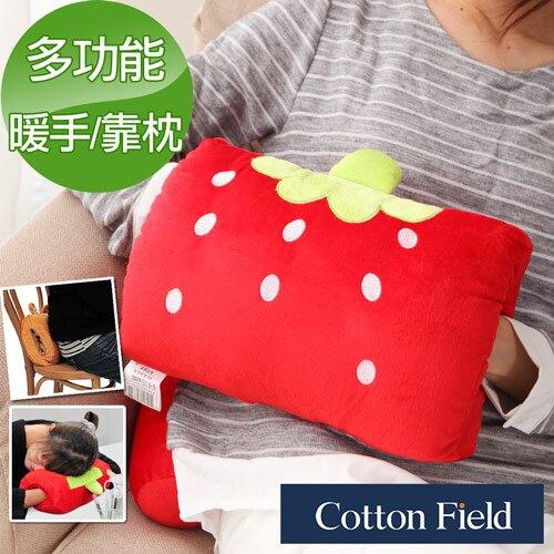 【小草莓】可愛造型多功能暖手抱枕