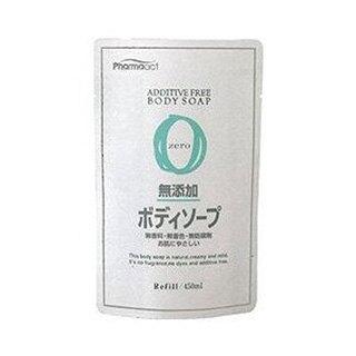 日本熊野 沐浴乳【Kumano熊野油脂】Pharmaact 無添加沐浴乳(補充包)-450ml