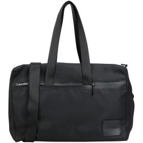 《セール開催中》CALVIN KLEIN メンズ 旅行バッグ ブラック ポリエステル 90% / ポリウレタン 10% SPLIT WEEKENDER