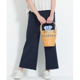 自由区 GEORGETTE ワイドパンツ レディース ネイビー系 38 【JIYU-KU】