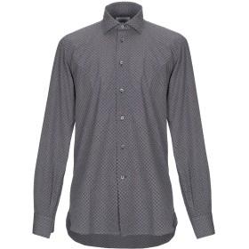 《期間限定セール開催中!》BRANCACCIO メンズ シャツ ダークブルー 40 コットン 100%