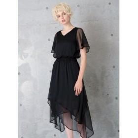 (MIELIINVARIANT/ミエリインヴァリアント)Airy Layered Dress/レディース ブラック