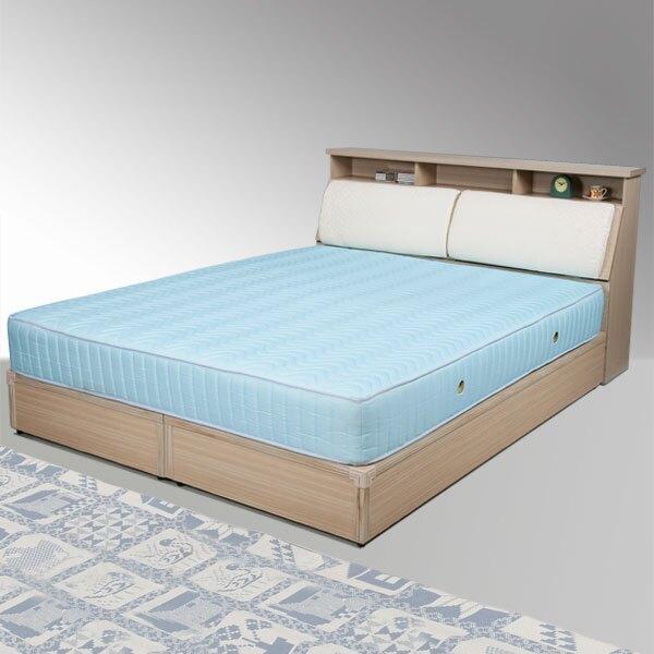 黛絲床組-雙人5尺(白橡木紋)❘雙人床/床組/床台/床頭箱/房間組/臥室【YoStyle】