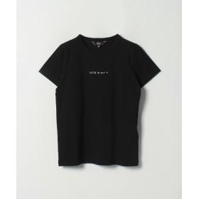 アニエスベー W984 TS ロゴTシャツ レディース ブラック 38(M) 【agnes b.】