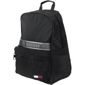 《セール開催中》TOMMY HILFIGER メンズ バックパック&ヒップバッグ ブラック ポリエステル 90% / ナイロン 10% SPORT MIX BACKPACK S