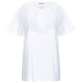 《セール開催中》NINA RICCI レディース T シャツ ホワイト S コットン 100% / ナイロン / レーヨン