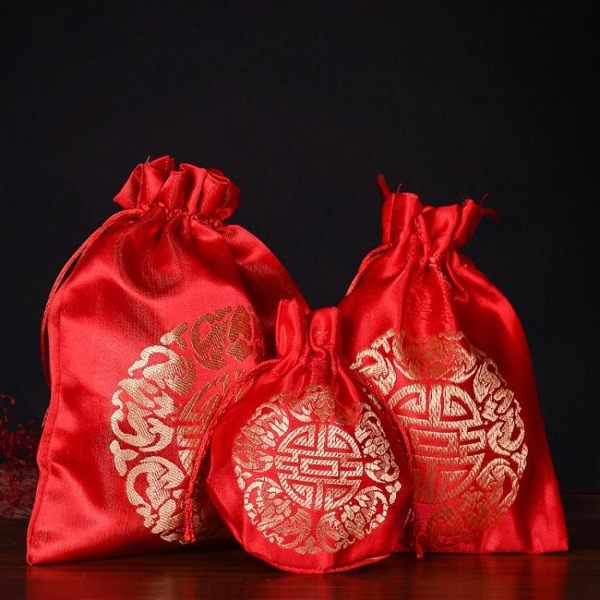 全館免運 創意結婚伴手禮婚禮織錦袋婚慶用品喜糖袋子