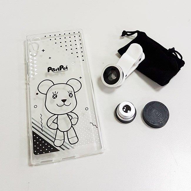 (Post Pet禮盒)Sony Xperia XA1 5吋手機(G3125)專用—內含Post Pet MOMO熊手機殼+MOMO熊三合一廣角鏡頭