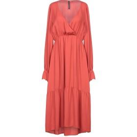 《セール開催中》MANILA GRACE レディース 7分丈ワンピース・ドレス 赤茶色 40 レーヨン 100%