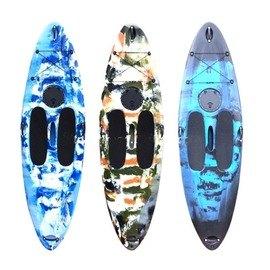 【2米92單人衝浪板-SUPL012-全配-292*80*20cm-1套/組】滾塑塑膠硬艇 潛水衝浪漂流沙灘滑水站著劃(裸艇+T槳+衣,需預定+海運)-7682035