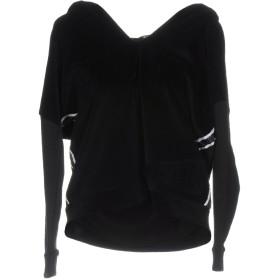 《期間限定 セール開催中》!MERFECT レディース スウェットシャツ ブラック S コットン 80% / ポリエステル 20%