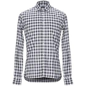 《期間限定セール開催中!》AGLINI メンズ シャツ ブラック 39 コットン 100%