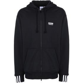《期間限定 セール開催中》ADIDAS ORIGINALS メンズ スウェットシャツ ブラック S コットン 100% R.Y.V. FZ HOODY