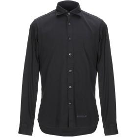 《期間限定 セール開催中》TINTORIA MATTEI 954 メンズ シャツ ブラック 40 コットン 97% / ポリウレタン 3%
