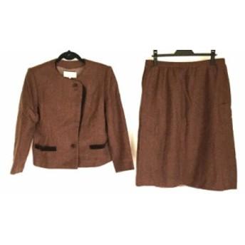 ラピーヌ LAPINE スカートスーツ サイズ17 XL レディース ダークブラウン【中古】