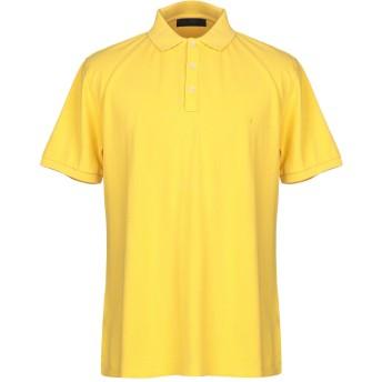 《期間限定セール開催中!》TRU TRUSSARDI メンズ ポロシャツ イエロー XXL コットン 100%