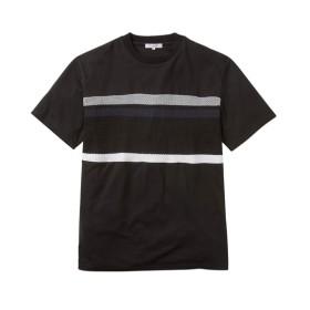 パネルニット切替半袖Tシャツ Tシャツ・カットソー