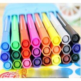 韓版文具 水彩筆24色 兒童小學生繪畫畫圖彩色筆-5801003