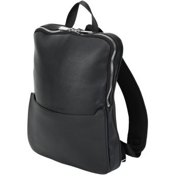 《セール開催中》CALVIN KLEIN メンズ バックパック&ヒップバッグ ブラック ポリウレタン 100% SLIVER CONVERTIBLE S