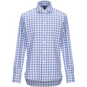 《期間限定 セール開催中》BRANCACCIO C. メンズ シャツ アジュールブルー 39 コットン 100%