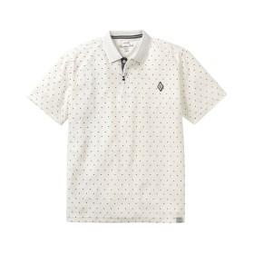 カノコ ドットプリント半袖ポロシャツ ポロシャツ