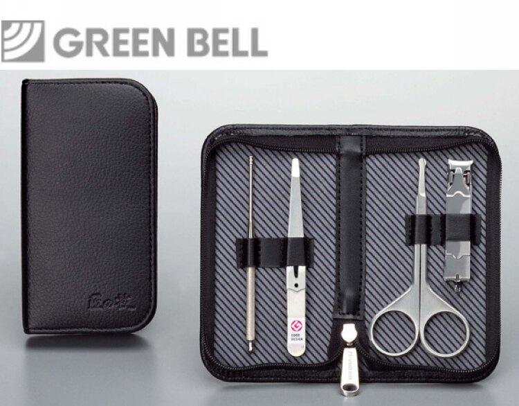 日本GB綠鐘匠之技鍛造鋼修容4件組旅行隨身包(G-3105)